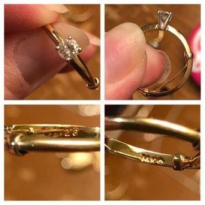 14k .28 Diamond Engagement Ring